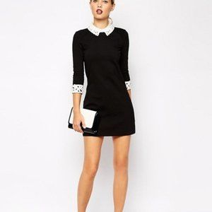 Ted Baker Currie Tunic Dress lace collar